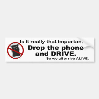 Anti Text and Driving Bumper Sticker