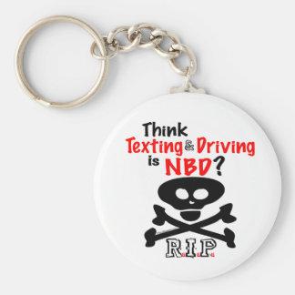 Anti-Texting mientras que conduce llavero