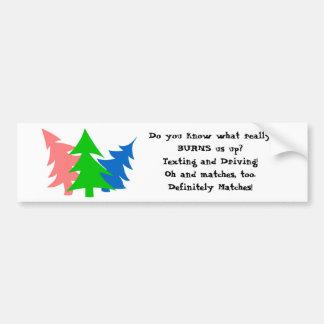 Anti-Texting Tree Bumper Sticker