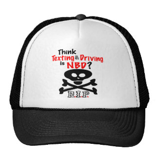 Anti-Texting While Driving Trucker Hat