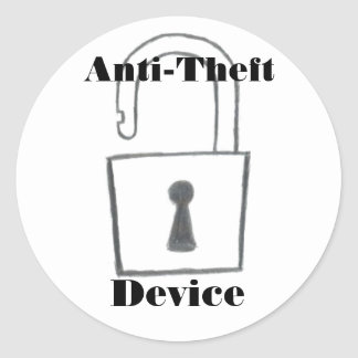 Anti-Theft Device Lock Sticker