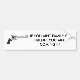 Anti Theft Notice Car Bumper Sticker