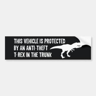 Anti-Theft T-Rex Bumper Sticker
