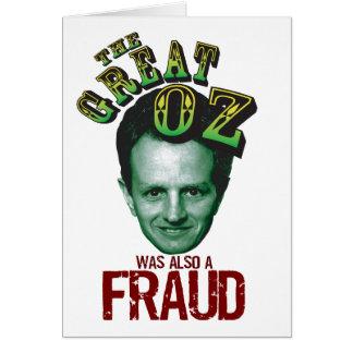 Anti Tim Geithner Card