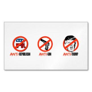 Anti-Triunfo Anti-Republicano del Anti-Arma - .png Tarjetas De Visita Magnéticas (paquete De 25)