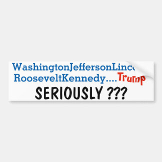 anti trump bumper sticker