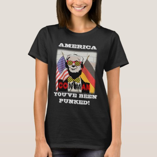 Anti_Trump Con Man Russia Puppet T_shirt