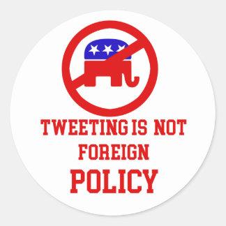 Anti Trump designs Classic Round Sticker