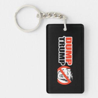 ANTI-TRUMP - DUMP TRUMP - - .png Double-Sided Rectangular Acrylic Keychain