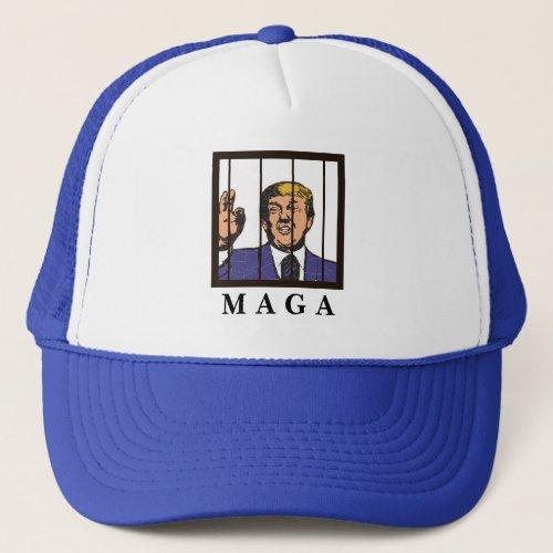 Anti_Trump funny MAGA hat  Potus in jail