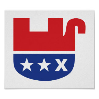Anti Trump GOP Republican Dead Elephant Poster