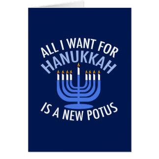 Anti Trump Hanukkah Card