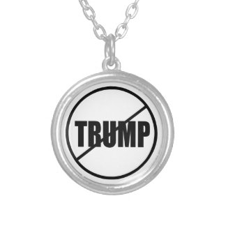 Anti Trump No Trump Custom Donald Trump Silver Plated Necklace