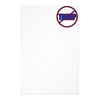 Anti Trump No Trump Custom Donald Trump Stationery