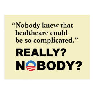 Anti-Trump Obamacare Postcard