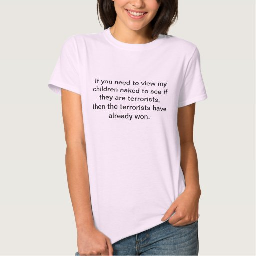Anti-TSA t-shirt for parents