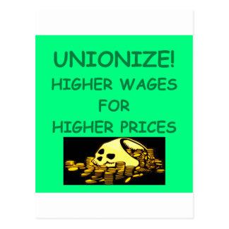 anti union postcard