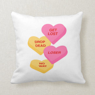 anti v day insults conversation hearts candy pillows