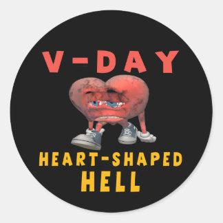 Anti V-Day Classic Round Sticker
