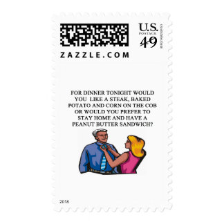 anti valentiine's day joke postage stamp