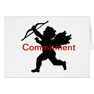 Anti-Valentine Black Cupid Commitment Card