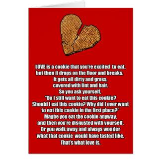 Anti-Valentine Broken Cookie Card