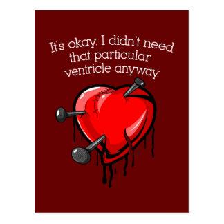 Anti-Valentine Broken Heart Post Cards