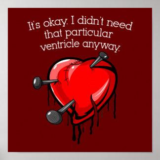 Anti-Valentine Broken Heart Poster