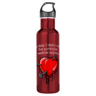 Anti-Valentine Broken Heart Stainless Steel Water Bottle