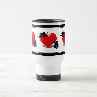 Anti-Valentine - Cupid's Duel (Add your Text) 15 Oz Stainless Steel Travel Mug
