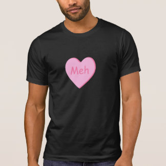 Anti-Valentine Day's t-shirt with candy heart meh