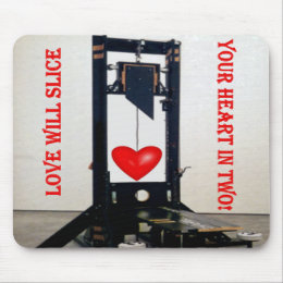 Anti-Valentine Don't Slice My Heart - Customized Mouse Pad
