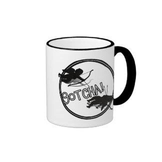 Anti-Valentine - 'GOTCHA' Cupid's Duel Ringer Coffee Mug
