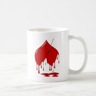 Anti-Valentine Heart Shot Classic White Coffee Mug