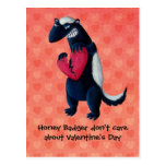 Anti Valentine Honey Badger Postcard