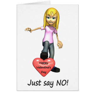 Anti-Valentine Just Say No Card