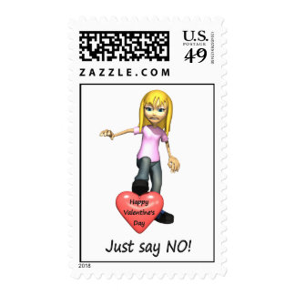 Anti-Valentine Just Say No Postage