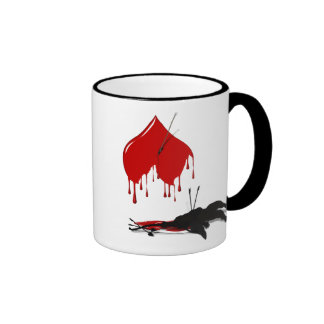 Anti-Valentine No more Cupid Ringer Coffee Mug