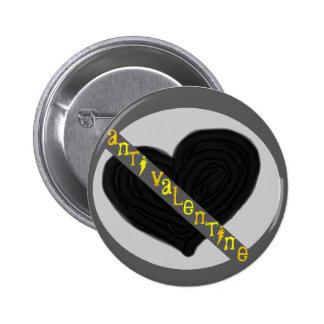 Anti valentine pinback button