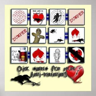 Anti Valentine print