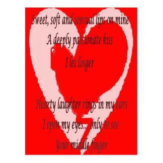 Anti-Valentine s Day Poem - Custom - Customized Postcards