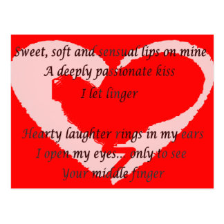 Anti-Valentine s Day Poem - Custom - Customized Post Cards