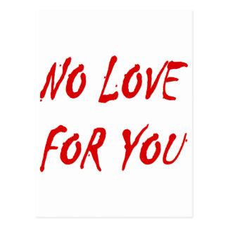 Anti-Valentine s No Love for You Postcard