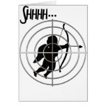 Anti-Valentine - SHHHHH Cupid in Sight Greeting Cards