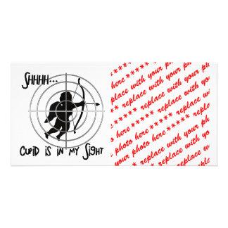 Anti-Valentine - SHHHHH Cupid in Sight Photo Cards