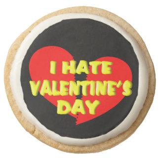 Anti Valentine Shortbread Cookies Online (1 dozen) Round Premium Shortbread Cookie