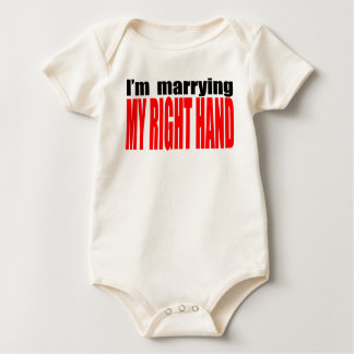 anti valentine single marrying right hand  heartbr baby bodysuit