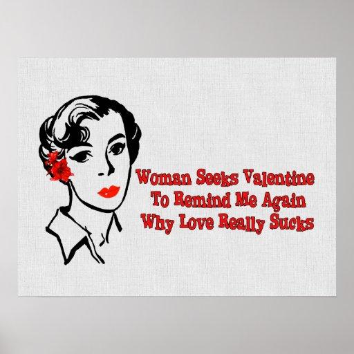 Anti-Valentine Singles Ad Poster