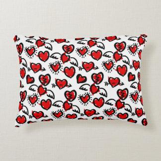 Anti-Valentine Sketch Pattern Accent Pillow