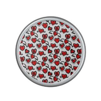 Anti-Valentine Sketch Pattern Bluetooth Speaker
